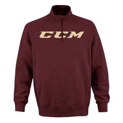 Burgundy (CCM Ivy 1/4 Zip Fleece - Burgundy - Adult)
