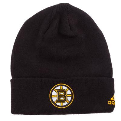 Boston Bruins (Adidas Cuffed Knit Boston Bruins Hat)