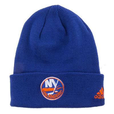 New York Islanders (Adidas Cuffed Knit New York Islanders Hat)