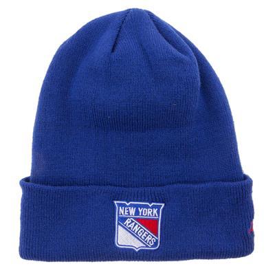 New York Rangers (Adidas Cuffed Knit New York Rangers Hat)