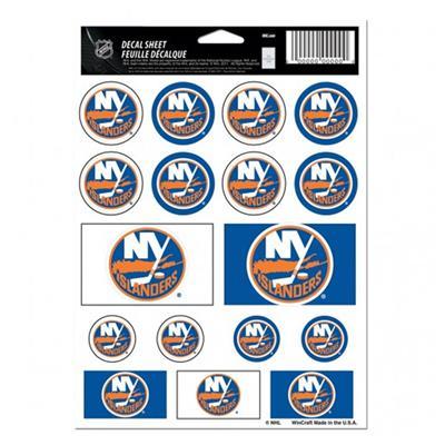 NHL Sticker Sheet 5x7 Islanders (Wincraft NHL Wincraft Vinyl Sticker Sheet - New York Islanders)