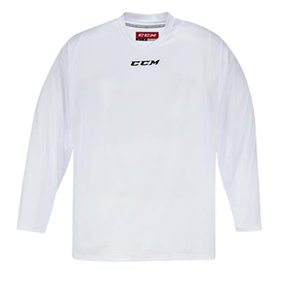 Front (CCM 5000 Practice Jersey - White - Junior)