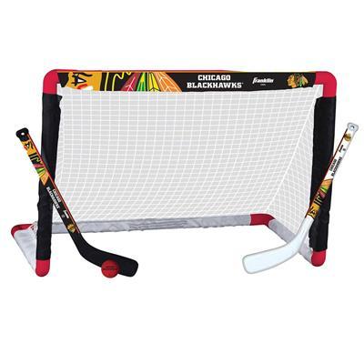 NHL Team Mini Goal Set - CHI (Franklin NHL Team Mini Hockey Goal Set - Chicago Blackhawks)