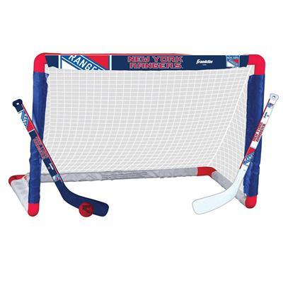 NHL Team Mini Goal Set - NYR (Franklin NHL Team Mini Hockey Goal Set - New York Rangers)