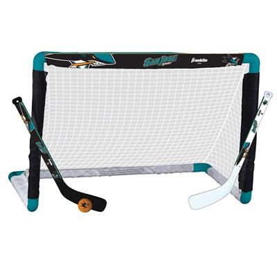 NHL Team Mini Goal Set - SJS (Franklin NHL Team Mini Hockey Goal Set - San Jose Sharks)