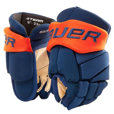 Blue/Orange (Bauer Pure Hockey Custom Vapor Team Hockey Glove - Youth)