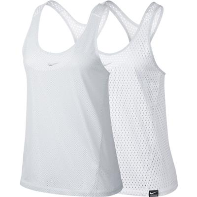 Front (Nike Womens Lax Pinney - White)
