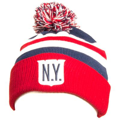 Front (Adidas New York Rangers Winter Classic Youth Knit Hat) 0ad3dcb1556
