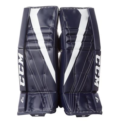 Navy/White (CCM Extreme Flex E3.5 Goalie Leg Pads - Junior)