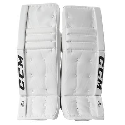 White/White (CCM Extreme Flex E3.5 Goalie Leg Pads - Junior)