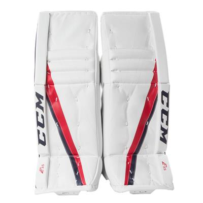 White/Navy/Red (CCM Extreme Flex E3.5 Goalie Leg Pads - Junior)