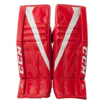Red/White (CCM Extreme Flex E3.5 Goalie Leg Pads - Junior)