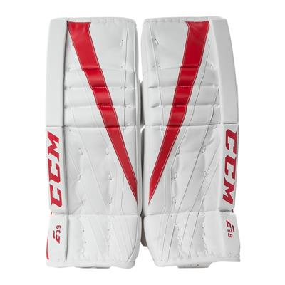 White/Red (CCM Extreme Flex E3.9 Goalie Leg Pads)
