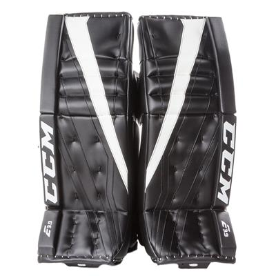 Black/White (CCM Extreme Flex E3.9 Goalie Leg Pads - Senior)