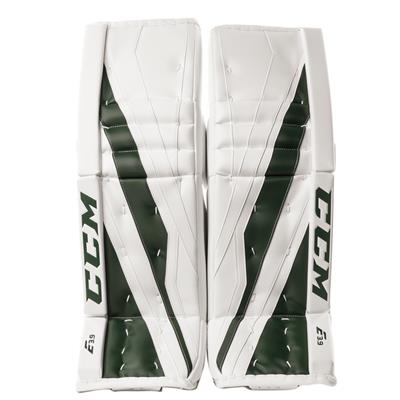 White/Dark Green (CCM Extreme Flex E3.9 Goalie Leg Pads)
