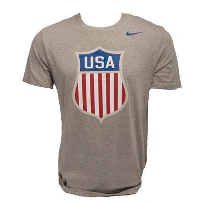 Front (Nike Tri-Blend USA Hockey Short Sleeve Tee)