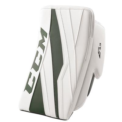 White/Dark Green (CCM Extreme Flex E3.9 Goalie Blocker)