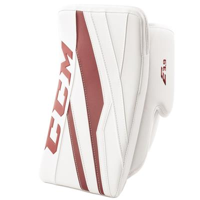 White/Maroon (CCM Extreme Flex E3.9 Goalie Blocker)