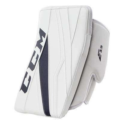 White/Navy (CCM Extreme Flex E3.9 Goalie Blocker)