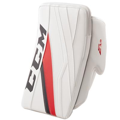 White/Navy/Red (CCM Extreme Flex E3.9 Goalie Blocker)