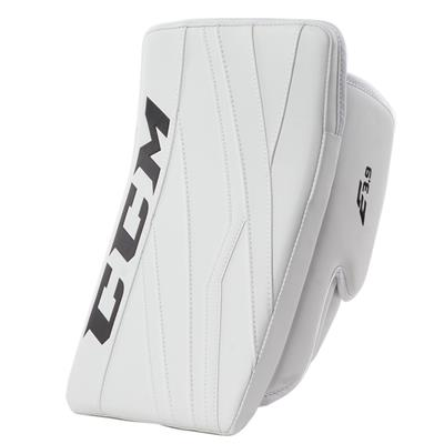 White/White (CCM Extreme Flex E3.9 Goalie Blocker - Intermediate)