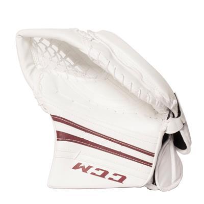 White/Maroon (CCM Premier R1.9 Goalie Catch Glove)
