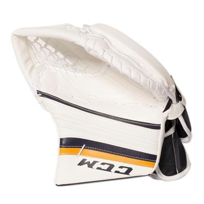 White/White/Navy/Gold (CCM Premier R1.9 Goalie Catch Glove)