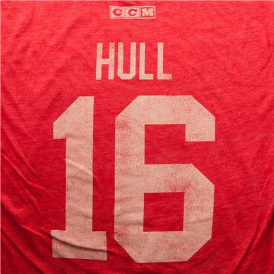 Hull Player Tee Blackhawks (Adidas Hull Player Tee Blackhawks - Mens)
