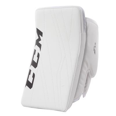 White/White (CCM Extreme Flex E3.5 Goalie Blocker - Junior)