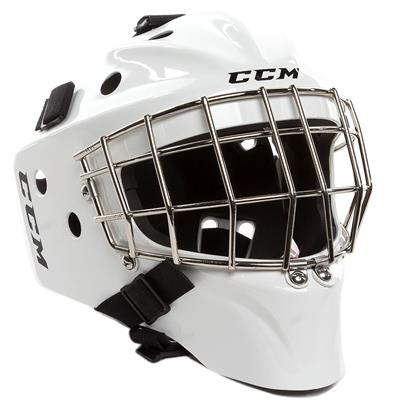 White (CCM 1.5 Goalie Mask - Youth)