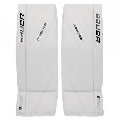 White/White (Bauer Supreme S190 Goalie Leg Pads - Senior)