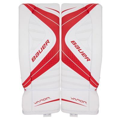 White/Red (Bauer Vapor X700 Goalie Leg Pads - Junior)