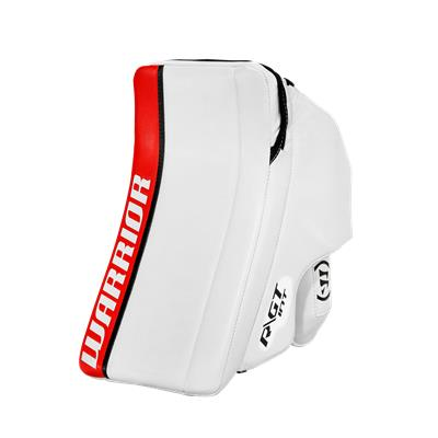 White/Red/Black (Warrior Ritual GT Classic Goalie Blocker - Intermediate)