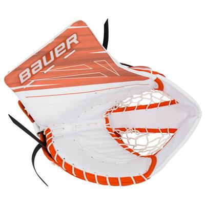 White/Orange (Bauer Supreme 1S OD1N Goalie Catch Glove)