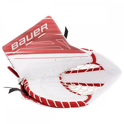 White/Red (Bauer Supreme 1S OD1N Goalie Catch Glove)