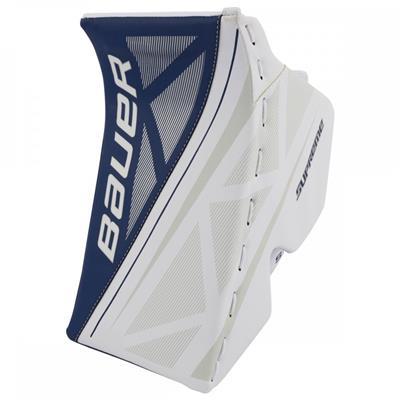 White/Blue (Bauer Supreme S170 Goalie Blocker - 2017)
