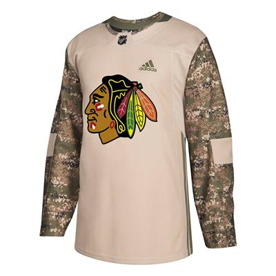 Front (Adidas Chicago Blackhawks Camo Jersey - Adult)