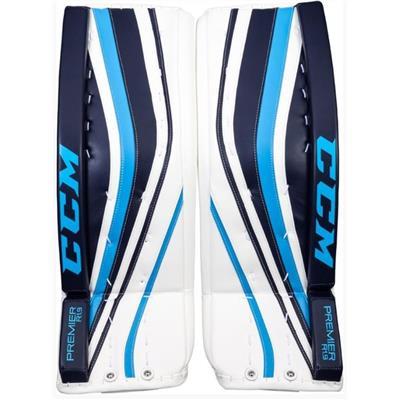 White/Navy/Baby Blue (CCM Premier R1.9 Goalie Leg Pads)