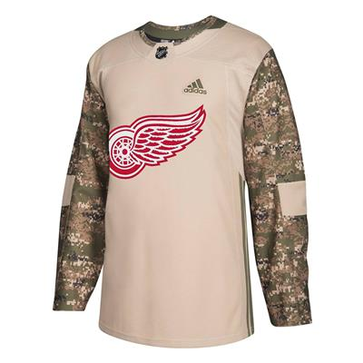 Front (Adidas Detroit Red Wings Camo Jersey - Adult)