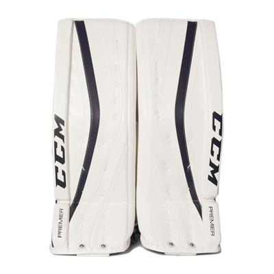 White/Navy (CCM Premier Pro Goalie Leg Pads)