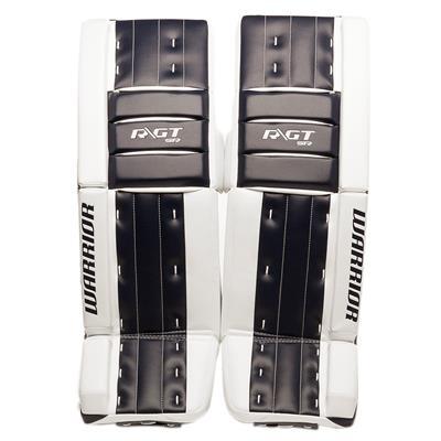 White/Navy (Warrior Ritual GT Classic SE Goalie Leg Pads - Senior)