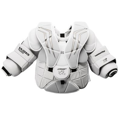 White/Silver (Vaughn Velocity 7 XF Pro Carbon Goalie Chest & Arm Protector)