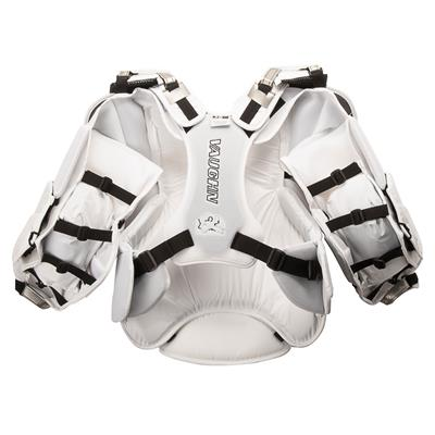White/Silver - Back (Vaughn Velocity 7 XF Pro Carbon Goalie Chest & Arm Protector)