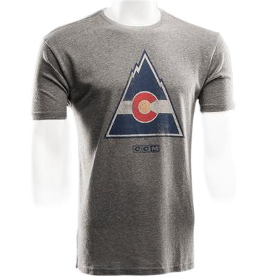 Colorado Rockies (CCM Colorado Rockies Heritage Logo Short Sleeve Tee - Mens)