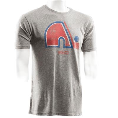 Front (CCM Quebec Nordiques Heritage Logo Short Sleeve Tee)