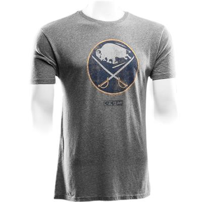 Front (CCM Buffalo Sabres Heritage Logo Short Sleeve Tee)