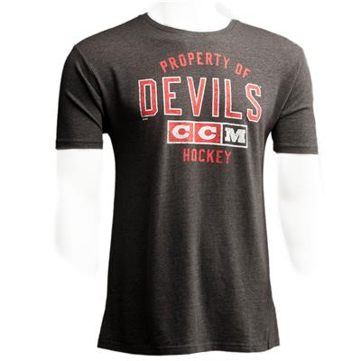 New Jersey Devils (CCM New Jersey Devils Team Property Short Sleeve Tee)