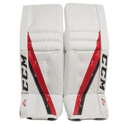 White/Navy/Red (CCM Extreme Flex E3.9 Goalie Leg Pads)