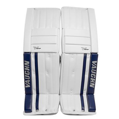 White/Blue (Vaughn XFP Pro Goalie Leg Pads - Senior)