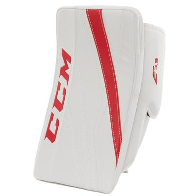 White/Red (CCM Extreme Flex E3.9 Goalie Blocker)